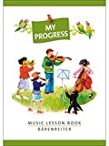 My Progress - Music Lesson Book - Aufgabenheft Mit Stickerbogen. Für Violine