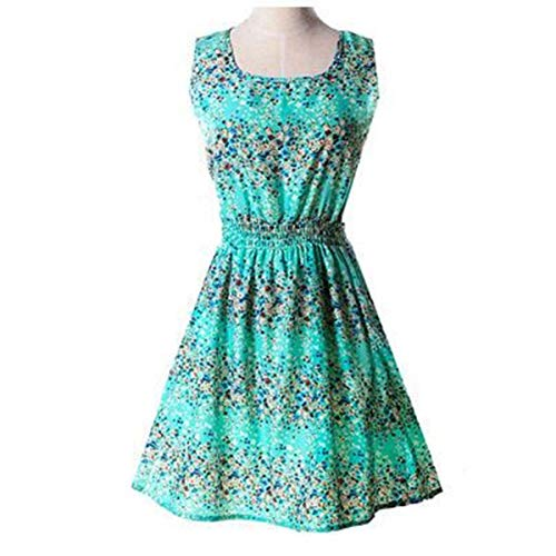 Shipping !! HOT New 20 Styles Women Casual Bohemian Floral Leopard Sleeveless Vest Printed Beach Dress Navy Blue S - Old Navy Striped-shorts