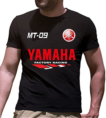 Print & Design T-Shirt Maglietta Yamaha MT-09 Personalizzata Nera (m)
