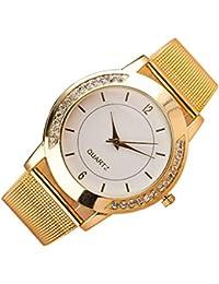 31c86bc77283 Mujer Reloj de Moda Chino Cuarzo Reloj Casual Acero Inoxidable Reloj (Dorado )
