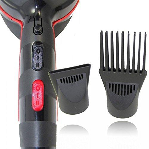 Pritech Haartrockner mit Kammaufsatz, speziell für afrikanische Haare, 2.200W