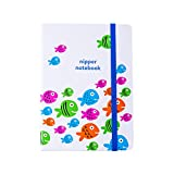 nipper notebook - Luxury Baby & Toddler Notebook | Ruled / Lined Parenting Journal (Fish Cover Design)
