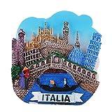 IPOTCH 3D Mini Modelo de Atracciones Turísticas Diseño de Imanes Prácticos de Refrigerador Regalos de Coleccionistas - Venecia