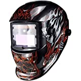 Casco Soldadura de Oscurecimiento Automático, máscara de casco de soldadura con filtro de lente,