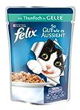Felix So gut wie es aussieht Katzenfutter Thunfisch,20er Pack (20 x 100 g) Beutel