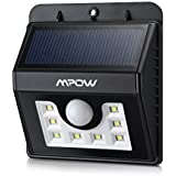 LED Solar Motion Sensor Lights, Mpow® 3-in-1 Waterproof Solar Energy Powered Security Light Outdoor Bright Light Lamp with 3 Intelligient Modes for Garden, Outdoor, Fence, Patio, Deck, Yard, Home, Driveway, Stairs, Outside Wall etc.( 8 Bright Nodes )
