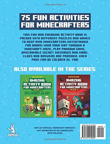 1: Amazing Activity Book For Minecrafters: Puzzles, Mazes, Dot-To ...