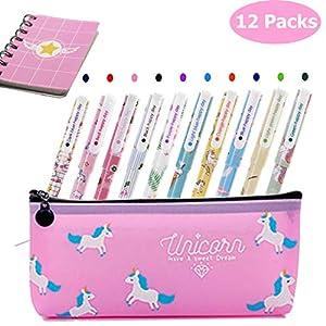 Lhasam Bolígrafos de unicornio lápices