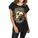 Frauen und Damen lässiges Shirt Boxer - gestört aber geil