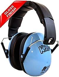 EDZ Kidz - niños ajustable reducción de ruido orejeras protecciones para los oídos