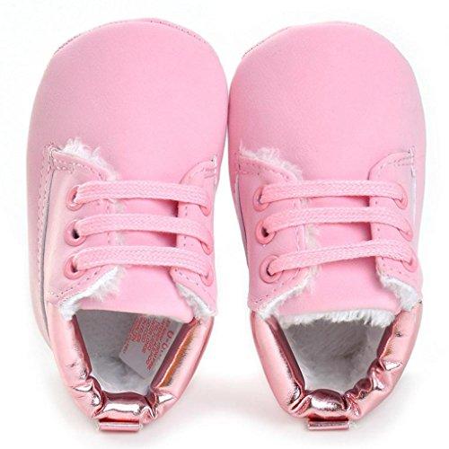 Jamicy® Baby weiche Sohle Schuhe Mode Leder Mädchen Jungen Kinderbett Schuhe Rosa