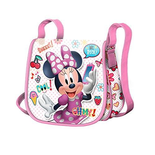 Karactermania Minnie Mouse OhMy!-Sac à Bandoulière Muffin (Mini) Umhängetasche, 16 cm, Mehrfarbig (Multicolour)