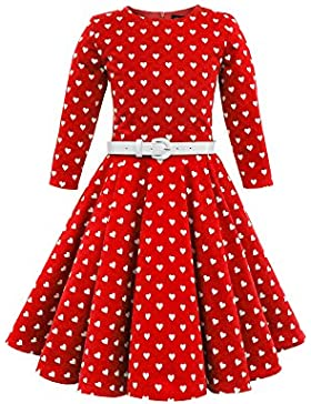 BlackButterfly Kids 'Chloe' Vintage Hearts 50's Girls Dress