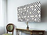 banjado screencover - Dekorative Abdeckung für Ihren Fernseher, Alle Zollgrößen möglich, Material Hartschaum weiß mit Motiv Tannenbäume, Größe 40'' TV (101cm x 61cm)