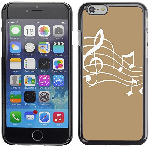 Graphic4You Music Note Pattern Design Hard Case Cover for Apple iPhone 6 Plus (Turquoise) Hellbraun