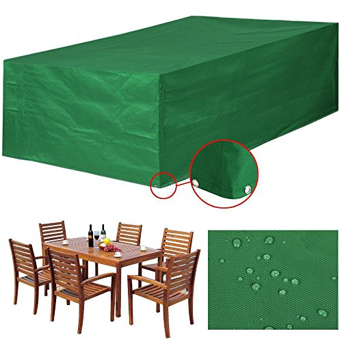 Yaheetech Abdeckung Gartenmöbel Schutzhülle für Gartentisch und Stühle Wasserdicht Möbel...