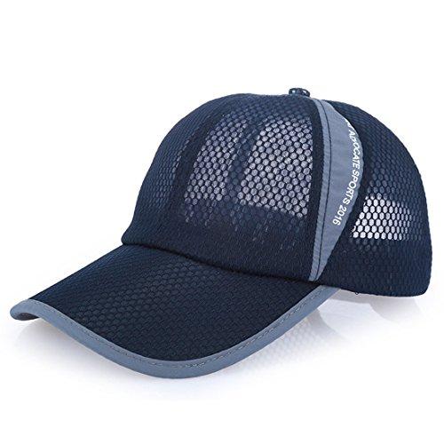Thenice Cappellino da baseball Classic Trucker Cappello Regolabile (Blu navy)
