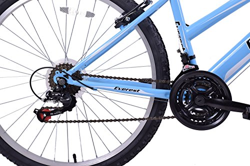 Professional Everest Womens 26″ Wheel Mountain Bike 21 Speed 19″ Frame Baby Blue