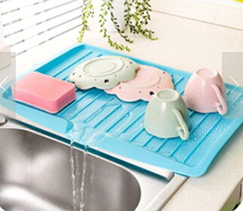 Geschirrabtropfkorb Abtropfständer Geschirr Kunststoff (Blau)