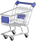 IDENA Deko-Einkaufswagen, 22cm 4fach sortiert - 1 Stück