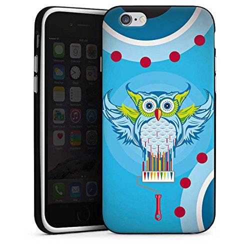 Apple iPhone X Silikon Hülle Case Schutzhülle Eule Bunt Comic Silikon Case schwarz / weiß