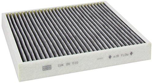 Original MANN-FILTER Innenraumfilter CUK 26 010 – Pollenfilter mit Aktivkohle – Für PKW