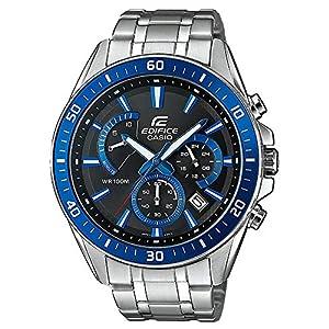 Casio Edifice Herrenarmbanduhr, massives Edelstahlgehäuse und Armband, 10 BAR