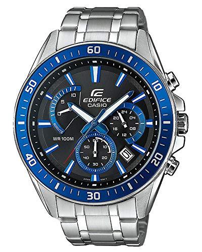 Casio Edifice Herrenarmbanduhr EFR-552D-1A2VUEF, blau schwarz, massives Edelstahlgehäuse und Armband, 10 BAR
