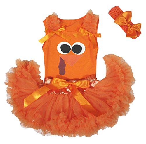 ving Türkei Face Orange Baby Mädchen Rock Tutu Set 3–12M Gr. Einheitsgröße , Orange (Türkei Baby-kostüm)
