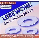 Lebewohl, anelli di protezione per metatarso, ovali, 8pz.