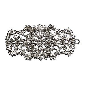 Rivelle Damen Trachten Haarspange Lilli alt-Silber Haarschmuck Vintage Hochzeit Metall Silber