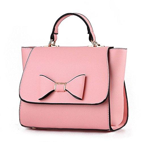 koson-man-damen-sling-vintage-tote-taschen-top-griff-handtasche-rose-pink-kmukhb339