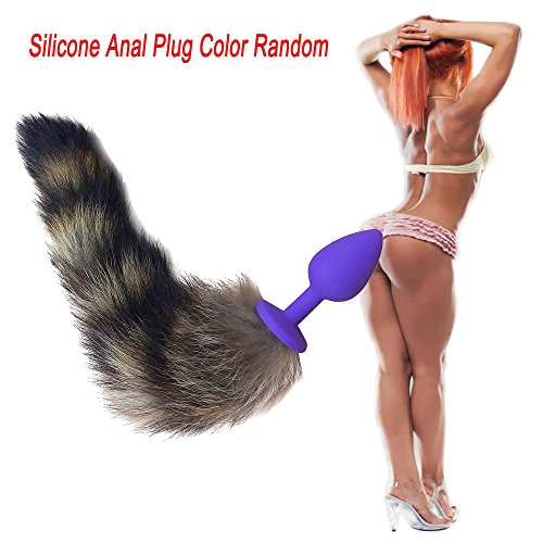 Mitlfuny Sex Spielzeug Schmuck Anal Butt Plug,Silikon Anal Plug Fuchsschwanz Butt Plug Anal Sex Spielzeug Anal Schwanz ()