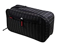 HOYOFO Men's Toiletry Handbag Cosmetic Kits Gym Shaving Bag with Carry Handle,Black