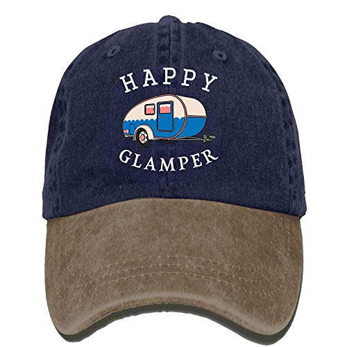 Naiyin Happy Camp Happy Glamper Vintage Washed Dyed Cotton Twill Low Profile Adjustable Baseball Cap Black - Pink Plaid Protector