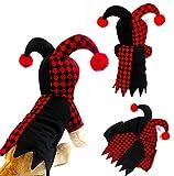 Hillento Disfraz de Mascota, Disfraz de Payaso Encapuchado Divertido para Perros pequeños y Gatos Cosplay de Fiesta de Halloween