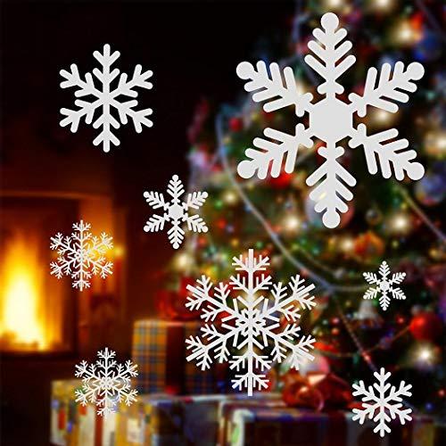 chten Schneeflocke Fenster haftet Aufkleber Wandtattoo - Weihnachten/Urlaub/Winter Wonderland Weiß Dekorationen Ornamente Party Supplies ()