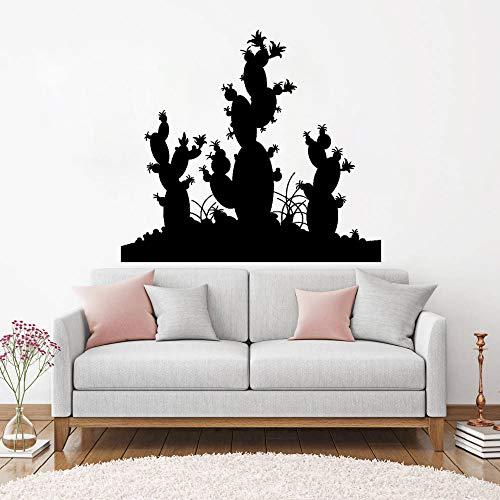 supmsds Kaktus Wüstenpflanze Wandtattoos Wohnzimmer Wohnkultur Vinyl Aufkleber Wandbilder Innenwandkunst Tapete Einzigartiges Geschenk L 123 cm x 110 cm