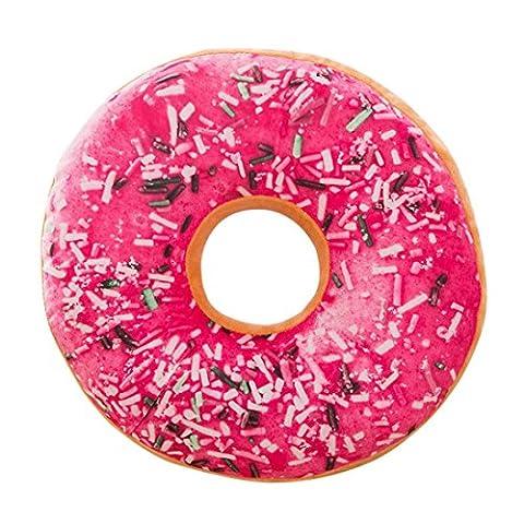 Housse de coussin, Kolylong Mignon Coussins en Forme de Donuts Coussins de Chaise Décoratifs Oreillers Jouet En Peluche (40x 40 x 12, N)