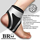 BRO ANKLE SUPPORT with TPU Technology: 3 Point Compression,ANKLE BRACE for Arthritis ,Sprained ankle,Swollen ankles,Tendinitis,Ankle Pain,Basketball,Running,Sports,Breathable Neoprene,Black,Adults-One Size-FREE £8.99 PATELLA STRAP