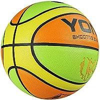 CN Color PU Basketball School Kindergarten Escuela Primaria niños artículos Deportivos Bola Azul,, Número 5