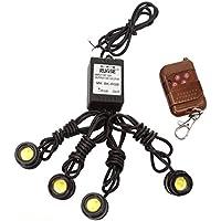 Luci stroboscopiche auto di emergenza - Kingwo 4 in 1 luci stroboscopiche di emergenza 12V Hawkeye dell'automobile LED Kit telecomando senza fili DRL Luci stroboscopiche auto