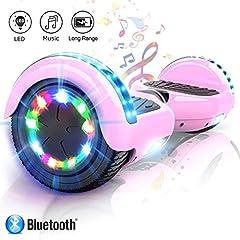Idea Regalo - Hoverboard elettrico scooter a 6.5 pollici LED Auto Balance E-Skateboard