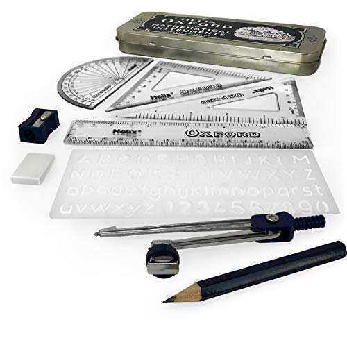 Helix Limited B43000 Oxford Maths Set Includes Stationery and Storage Tin - Oxford Set