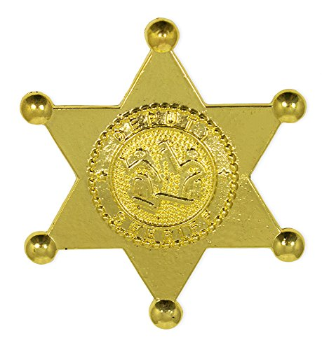 Sheriff Deputy Stern aus Metall - Gold - Zum Cowboy und Western Kostüm (Sheriff Deputy Kostüm)