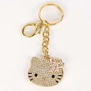 Hello Kitty Porte-Clé Porte Clef Strass à Miroir