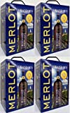 4 x GRAND SUD MERLOT Vin de Pays d`Oc 3 Liter BAG IN BOX