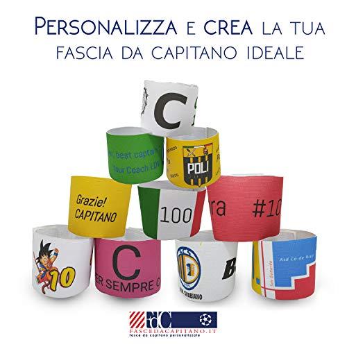 Fasce da Capitano Personalizzate Personalizza la Tua Fascia da Capitano per Bambino o Adulto Basic o Deluxe con o Senza Assistenza Grafica nella