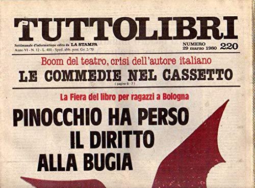Tuttolibri n. 220 del Marzo 1980 Mara Cagol, Beckett, Stefanini