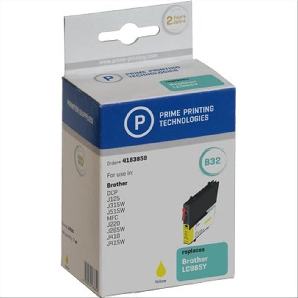 Prime Printing 4183859 Cartuccia Compatibile per LC-985Y, 7 ml, Giallo